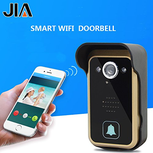 WiFi Wireless Video Intercom Doorbell Wireless Doorbell Mobile Phone APP Remote Control Unlock Remote Monitoring by JIA