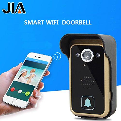WiFi Wireless Video Intercom Doorbell Wireless Doorbell Mobile Phone APP Remote Control Unlock Remote Monitoring by JIA