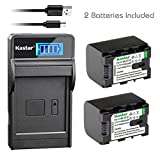 Kastar 2X Battery + SLIM LCD Charger for JVC BN-VG121 BNVG121 BN-VG107 BN-VG107U BN-VG108E BN-VG108U BN-VG114 BN-VG114AC VG114E VG114U VG121AC VG121 VG121U BN-VG138 VG138E VG138U GZ EX310 HM890 MG980