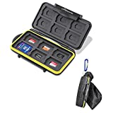 Beeway Tough Water Shock Resistant Protector Memory Card Carrying Case Holder 24 Slots for SD SDHC SDXC and Micro SD TF...