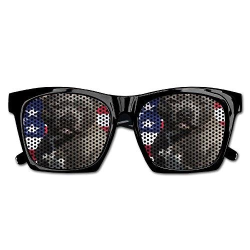 Elephant AN Themed Novelty Pitbull American Flag Dog Decoration Visual Mesh Sunglasses Fun Props Party Favors Gift - Pitbull Shades