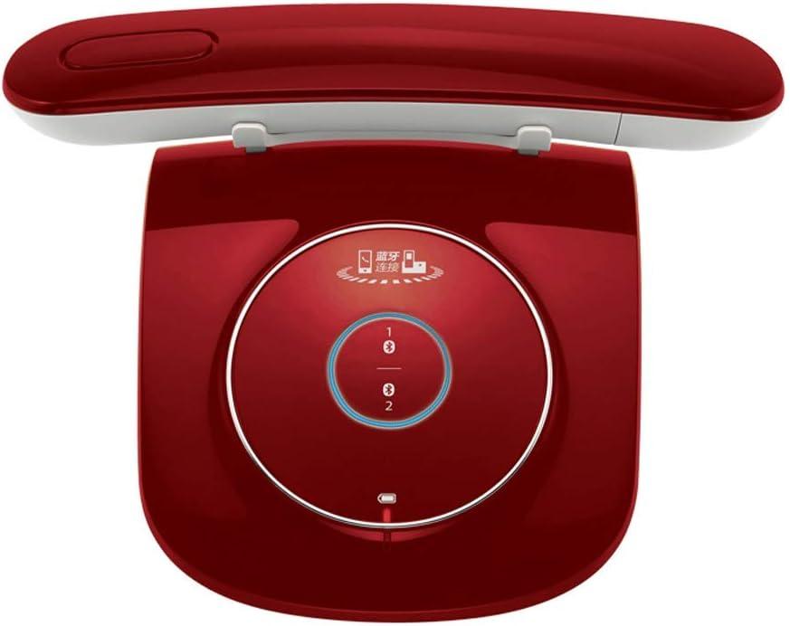 Teléfono LCSHAN Retro Vintage inalámbrico Fijo Conveniente de la Oficina inalámbrica Creativa (Color : Red)