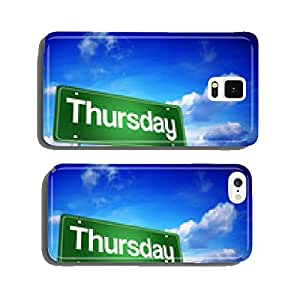 Thursday Green Road Sign, days of the week concept cell phone cover case Samsung S6