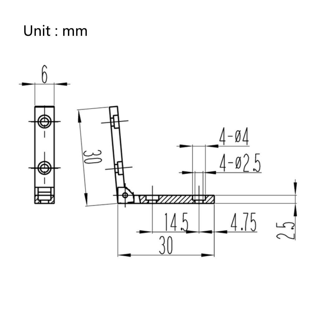 Bisagras de 90 grados de aleaci/ón de zinc 10 unidades para joyero de madera