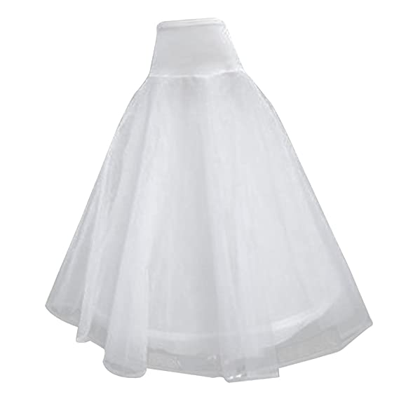 48d57262a0 Generic Women's Tulle 2 Layers Ball Gown Petticoat (ST-1188,White,Free