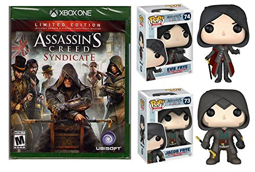 (Assassin's Creed: Syndicate - Limited Edition - Xbox One Bundle with Funko Pop! Vinyl Figures: Jacob Frye & Evie Frye. Includes Darwin & Dickens Conspiracy Mission )
