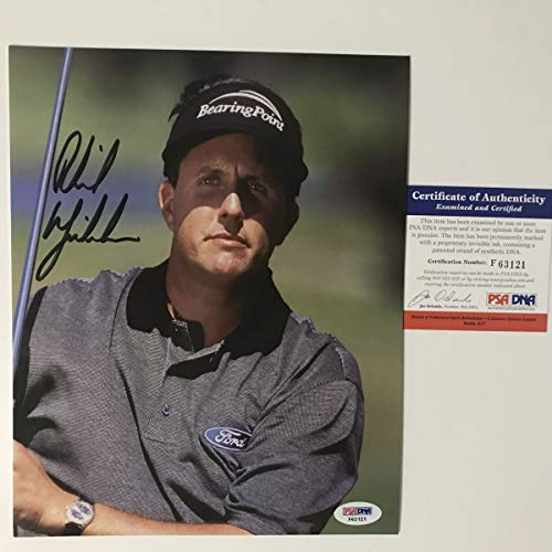 - Autographed/Signed Phil Mickelson PGA Tour 8x10 Golf Photo PSA/DNA COA