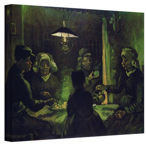 (ArtWall The Potato Eaters by Vincent Van Gogh Gallery Wrapped Canvas, 36 by)