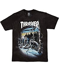 Thrasher 13 Wolves (Black Tie-Dye) T-Shirt-Small