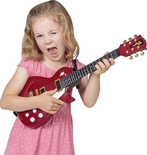Kids Musical Instrument 6 Strings Playing Mini Electric Rock Guitar Toy 54.5cm by Sportsgear US