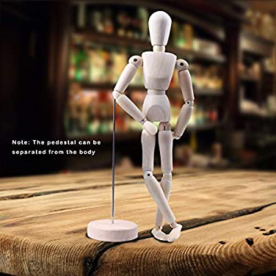 """DOLL STAND Doll Posing Accessories Wooden Doll Stand 9/"""" in Height"""