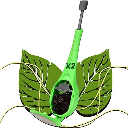 TEAFUZ - Juego de 2 infusores de te con filtro y desague para garantizar un minimo de depositos en la taza - Difusor de te o te de hierbas en bolsa o a granel[30 dias satisfechos o reembolsados]