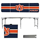 NCAA Auburn University Tigers Stripe Version 8 Foot Portable Folding Tailgate Table,1234,Multi