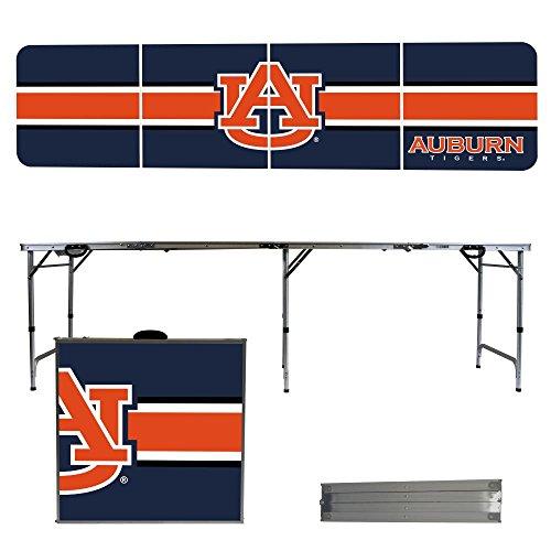 NCAA Auburn University Tigers Stripe Version 8 Foot Portable Folding Tailgate Table,1234,Multi by Victory Tailgate