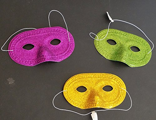 Oriental Trading Glitter Half Masks Metallic Elastic Costume Party Favor 6.5 x 4,12 -