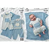 5b9cd7ae8aaa91 King Cole 3989 Knitting Pattern Baby Cardigans and Romper Suits to ...