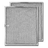 Aluminum Replacement Range Hood Filter 9-7/8'' x 11-11/16'' x 3/8'' (2-Pack)