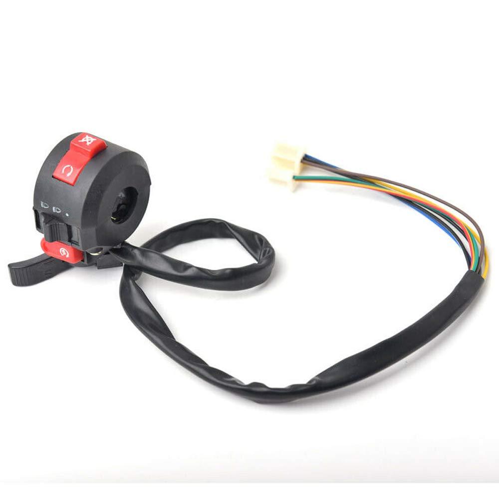 HERIS 3 Function Left Handlebar Switch Assembly for 50cc 70 cc 90cc 110 cc 125cc 150cc ATVs Quad 4 Wheelers Taotao SunL Coolster