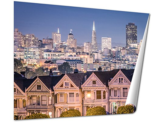 Ashley Giclee Fine Art Print, The Painted Ladies San Francisco Skyline, 16x20, - Center San Hours Francisco