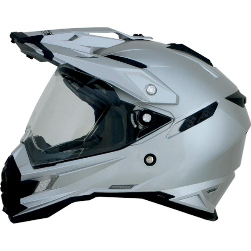 AFX FX-41DS Solid Helmet , Gender: Mens/Unisex, Helmet Type: Offroad Helmets, Helmet Category: Offroad, Distinct Name: Silver, Primary Color: Silver, Size: Sm 0110-3755