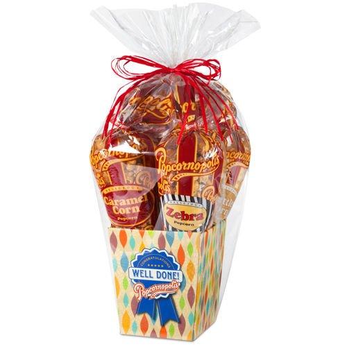 Popcornopolis Gourmet Popcorn 5-Cone Congratulations Gift Basket