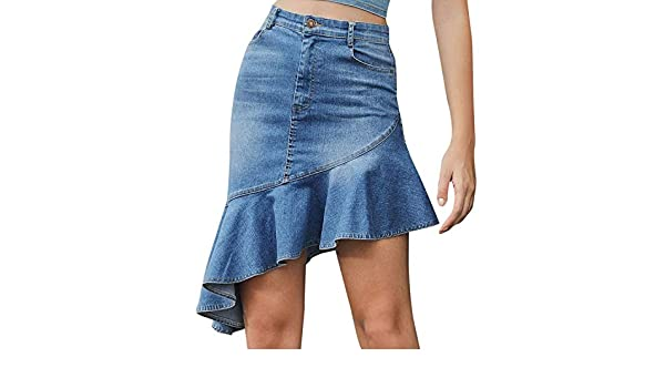 Lafei Nier Denim Pencil Skirt