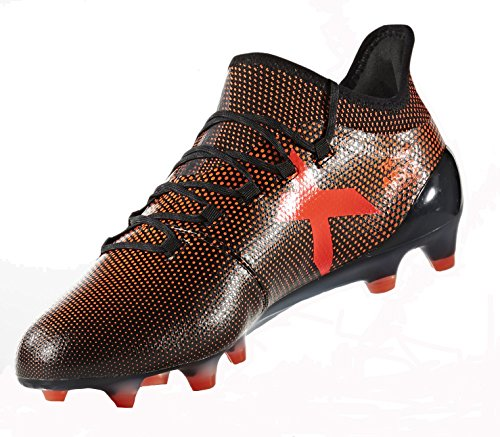 Adidas Mens X 17,1 Fg Fotballsko (sorte, Solenergi Rød)