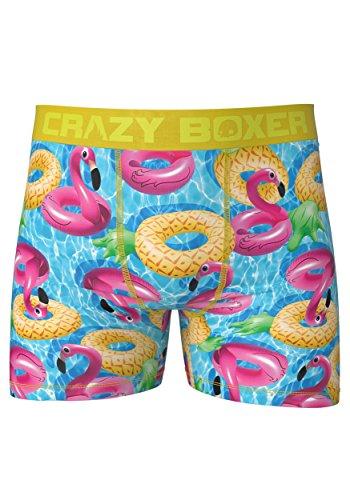 - Kalan LP Crazy Boxers Mens Summer Pool Floats Boxer Briefs Large