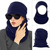 AblerV Balaclava Men Women Winter Hat Scarf Set Windproof Ski Mask Winter Warmer Protective Headgear Wind Resistant Cap, Ski Face Mask Hat Outdoor Sports Cycling Motorcycle Dark Blue
