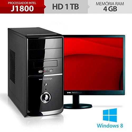 Computador Neologic NLI48291 Dual Core J1800 4GB Ram 1TB + Monitor 18,5