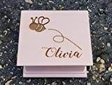 Custom music box with a bumble bee and your name on the top, personalizing option to the bottom...