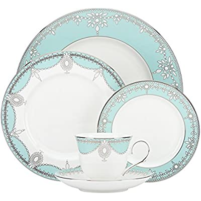 Click for Lenox 5 Piece Marchesa Empire Pearl Place Setting Dinnerware Set, Turquoise