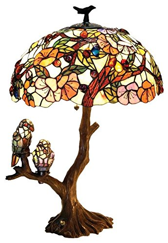 Chloe Lighting CH19B441DT 3 Light Birds Harmony Table (Birds Lighted Base Table Lamp)