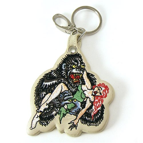 Licensed Don Ed Hardy Gorilla Leather Keychain Keyring (Ed Hardy Keychain)