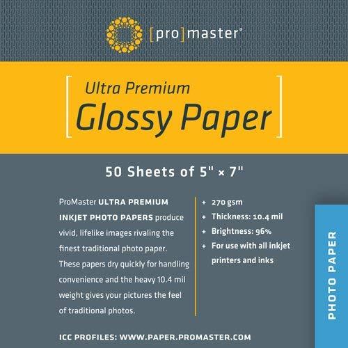 Promaster Ultra Premium Glossy Inkjet Printer Paper - 5