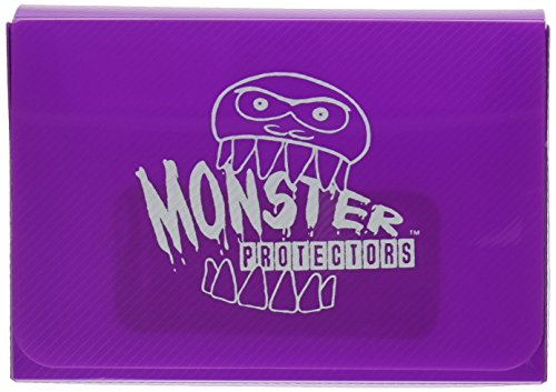 - Monster Protectors Trading Card Double Deck Box with Magnetic Closure - Purple (Fits Yugioh, Pokemon, Magic the Gathering Cards)