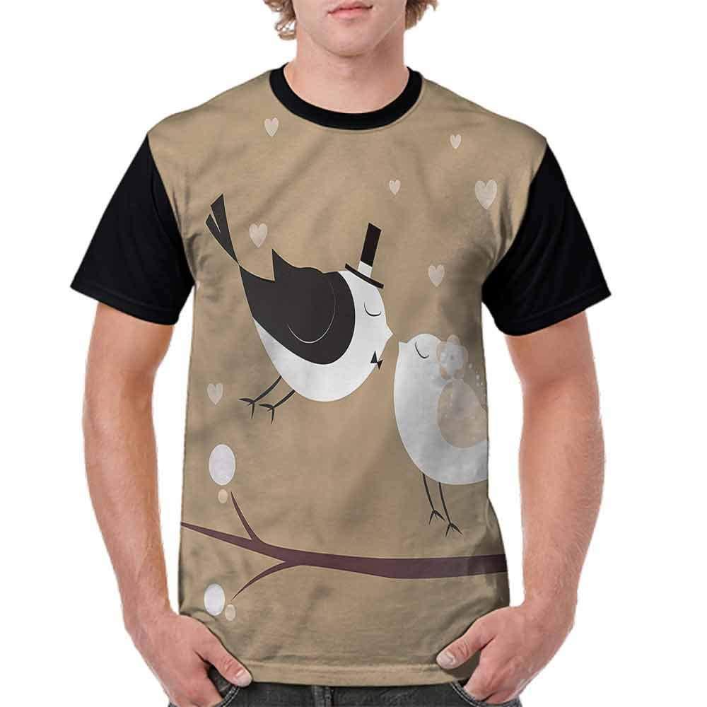 BlountDecor Casual Short Sleeve Graphic Tee Shirts,Bride and Groom Design Fashion Personality Customization