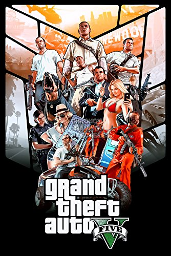 CGC Huge Poster - Grand Theft Auto V PS4 PS3 XBOX ONE 360 - GTA007 (24
