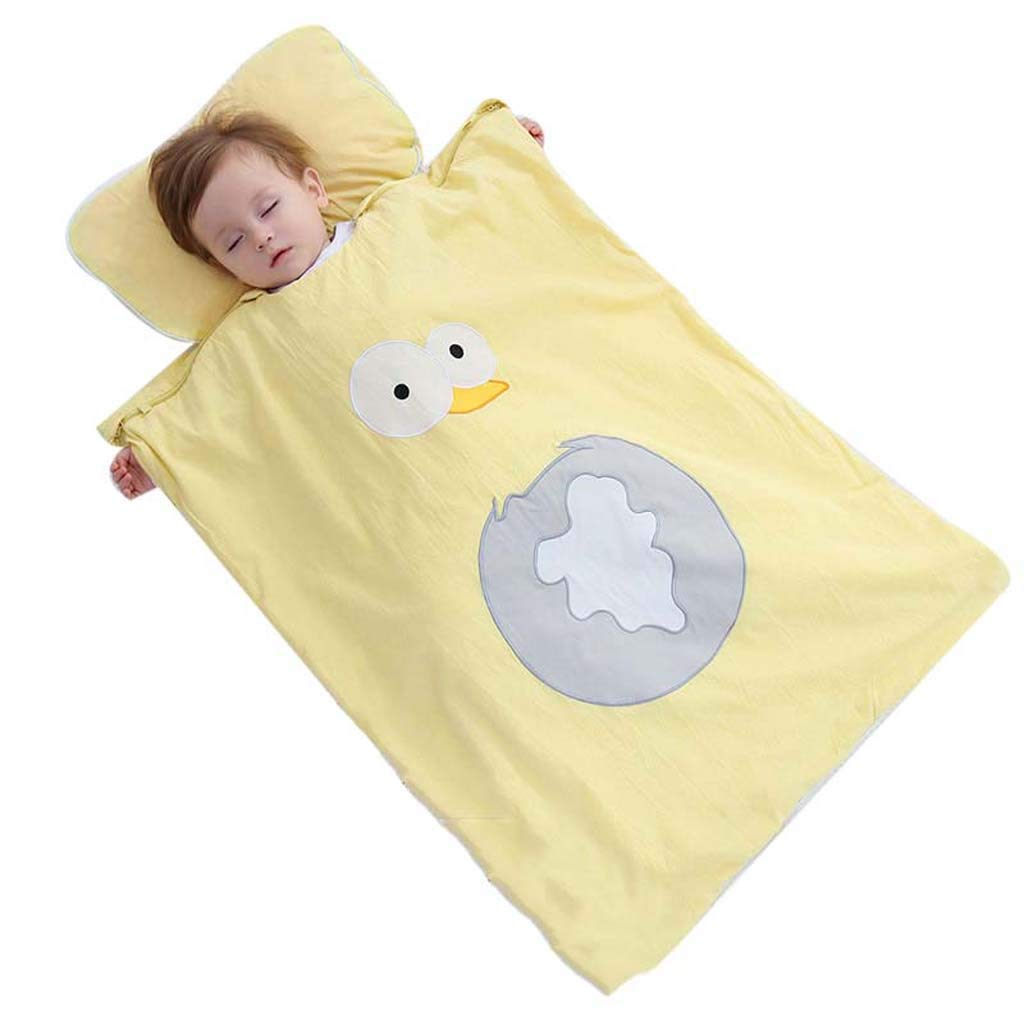 Yhz@ アーチファクト、ベビー寝袋綿のキルトの秋と冬のモデルによる子供の反キック - 綿生地+取り外し可能な綿糸 80cm*60cm C B07KT4FBNC