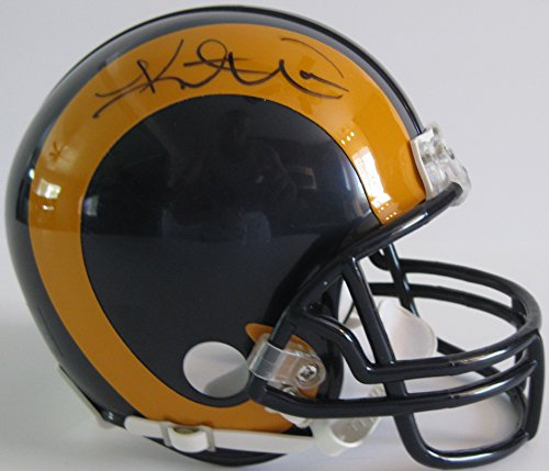 - Kurt Warner St. Louis Rams, Signed, Autographed, Mini Helmet, a COA with the Proof Photo of Kurt Signing Will Be Included.