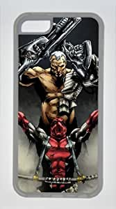 Iphone 5C Cover Deadpool Wade Wilson Marvel, DIY Transparent Edges Skin TPU Protected Case of Cecilydreaming