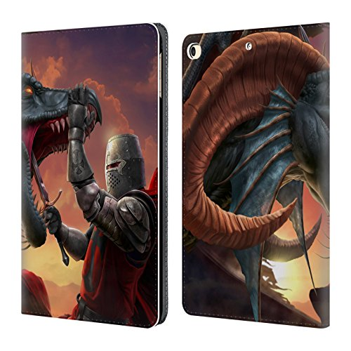 (Official Tom Wood Slayer Knight Dragons 2 Leather Book Wallet Case Cover for iPad 9.7 2017 / iPad 9.7 2018)