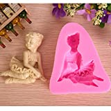 Bluelover 3D Ballet Girl Silicone Fondant Mold Chocolate Soap Mould Sugar Craft