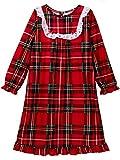Komar Kids Peas & Carrots Toddler Girls Plaid Christmas Holiday Nightgown Pajamas (4T, Toddler Red)