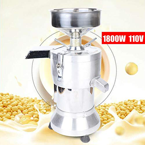 Soy Grinder 1800W Us Standard 110V, Mesh Soybean Grinding Machine Soymilk Pulping Milk Double Wheel Grind Maker Rice Bean Corn for Us Pulper Making from LOYALHEARTDY19
