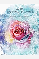 2019 Personal Planner - Includes Yearly, Monthly, and Weekly Calendars -: Beautiful grayscale floral images double as monthly dividers (COco Blank Books and Journals) Paperback