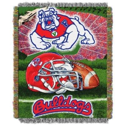 Fresno State University Bulldogs Throw Blanket Afghan Tapestry
