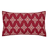 VHC Brands Coastal Bedding - Paloma Red Sham, Crimson, King