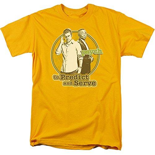 Trevco Men's Psych Short Sleeve T-Shirt, Gold, Small Buddy Short Sleeve T-shirt