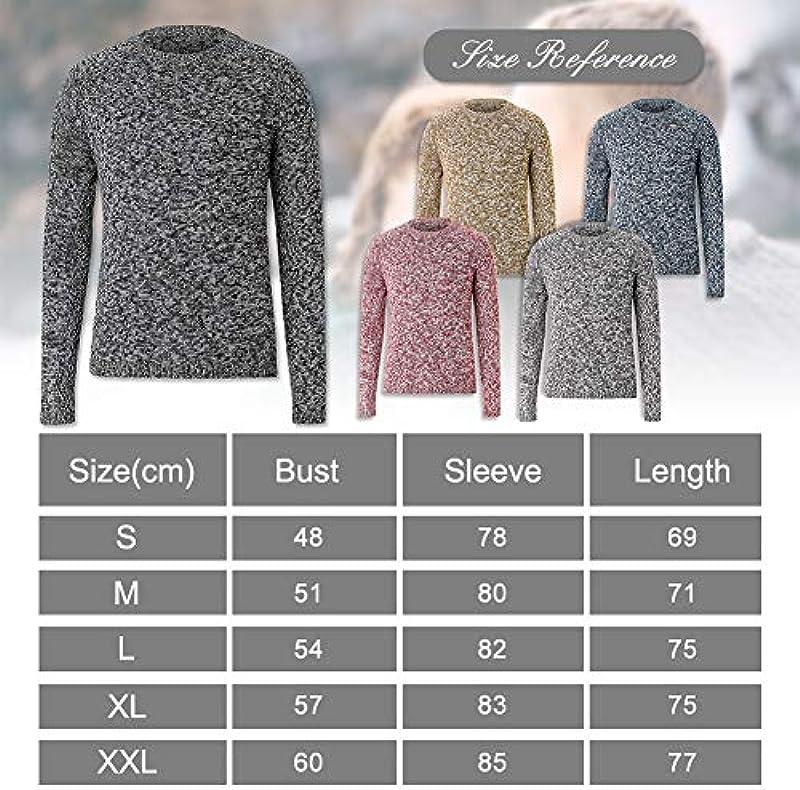 Idgreatim męski sweter z dzianiny z okrągłym dekoltem, luźny sweter z długim rękawem, ciepła bluza: Odzież